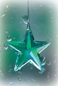 Crystal~Star 40 Green Swarovski Hanging Rainbow Crystal-A stunning array of dancing light